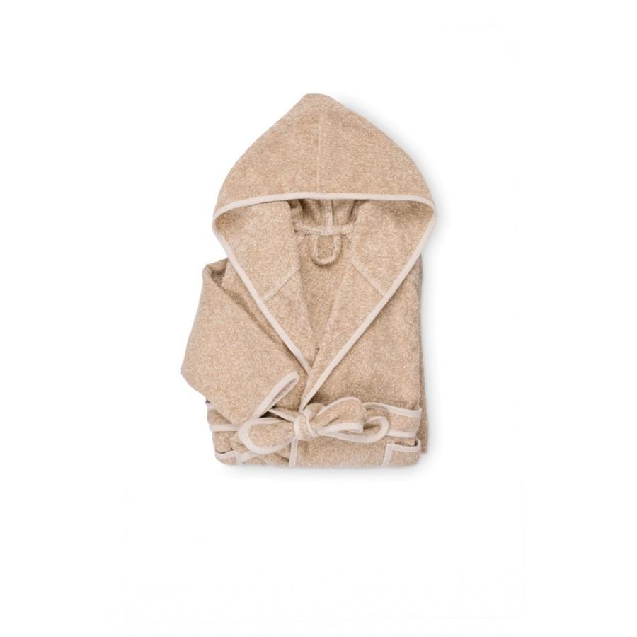 Otroški kopalni plašč s kapuco Svilanit Relax - bež, moder medvedek