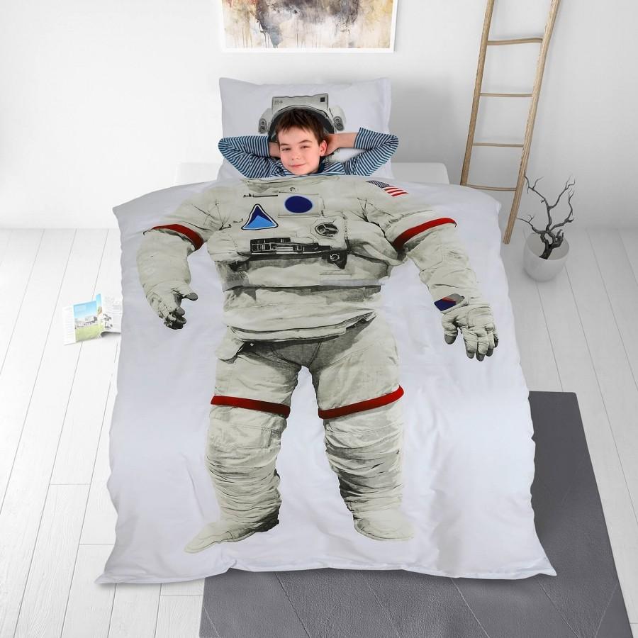Otroška bombažna posteljnina Svilanit Astronaut