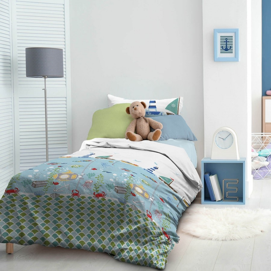 Otroška bombažna posteljnina Svilanit Captain Blue