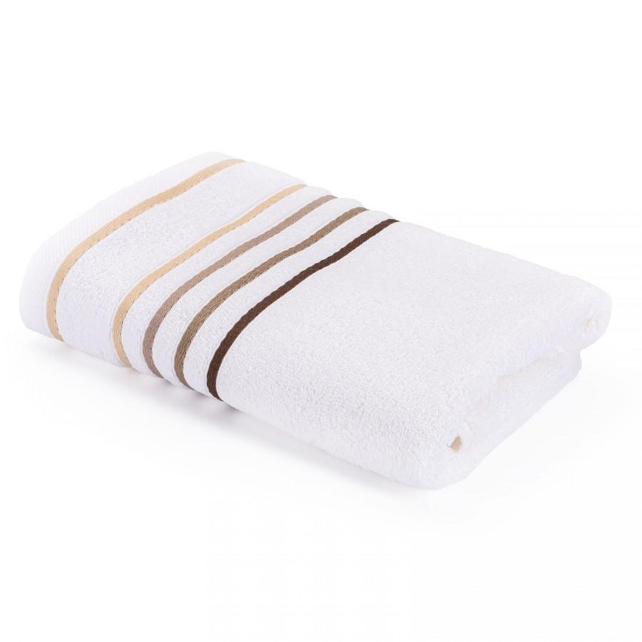 Brisača Svilanit Rainbow belo-peščena