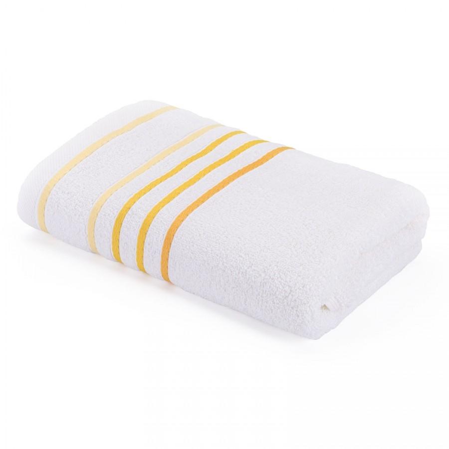 Brisača Svilanit Rainbow belo-rumena