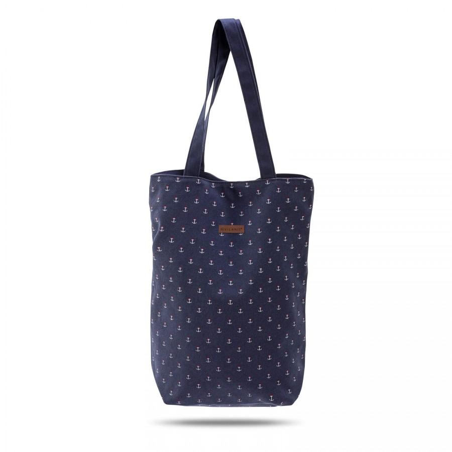 Mala plažna torba Svilanit Nautica - modra s sidri